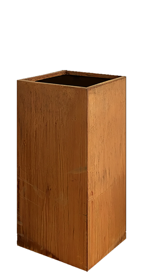 Corten Steel Planter Quadrum